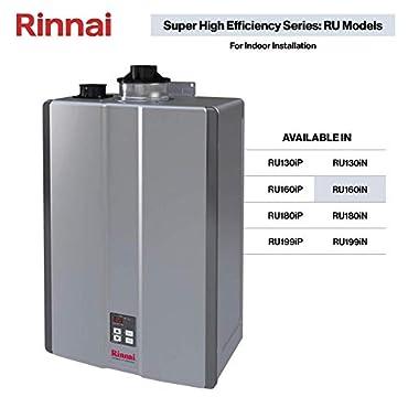 Rinnai RU160iN Sensei SE 9 GPM 160000 BTU 120 Volt Residential Tankless Hot Water Heater: Indoor Installation
