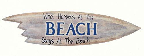 Beach Surfboard 100cm zum Aufhängen Hawaii Holzschild Kneipen Deko Hawaii Surfbrett