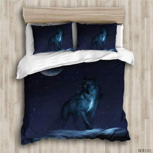 NTT 3D Printed Duvet Cover Sets Animal Wolf Cat Bed Linens Bedding Sets With Pillowcase King Size Bedclothes Comforter Covers 150 * 200Cm