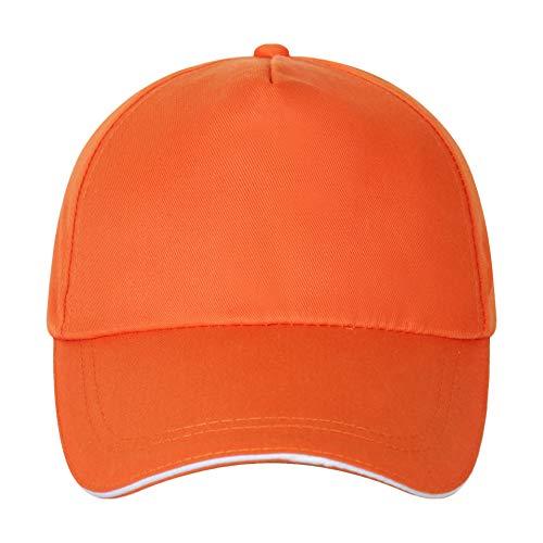 Sombrero De Los Niños Regalo De La Sombrilla Gorra Gorra De Béisbol del Sol Al Aire Libre Publicidad Regulable Color Naranja