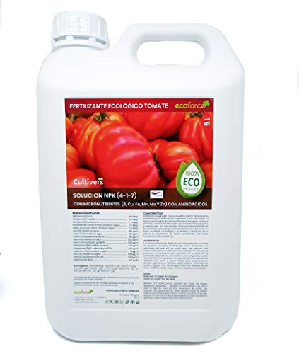CULTIVERS ECO10F00192 Fertilizante Ecológico para Tomates Líquido de 5 L. Abono 100%...