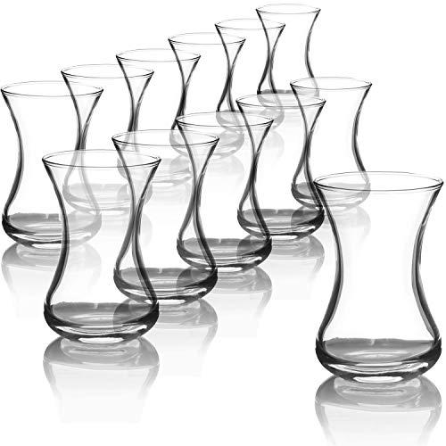 com-four® 12-teiliges Teeglas Set, Türkische Teegläser, original orientalisches Çay-Set für 12 Personen in traditionellem Design