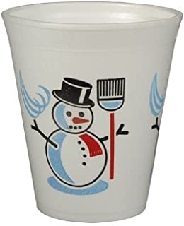 Insulated EPS 0.2 l / 7.9 CM Diameter / 9.1 CM White Snowman Quantity: 50 St Heissgetränkebecher made, Mulled Wine Glasses, Disposable Party Cups, ToGo Mug