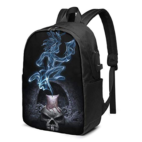 XCNGG Insane Clown Posse Men's and Women's Waterproof Laptop Backpack, Travel/School Backpack with USB Charging Port and Headphone Jack, Suitable for 15.6 to 17 Inch Laptops