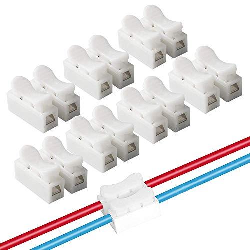 VIPMOON 100 stück CH2 Federverbindungsstück Anschlusskabel Kraftklemme elektrische Drähte an die LED-Lampe verbunden