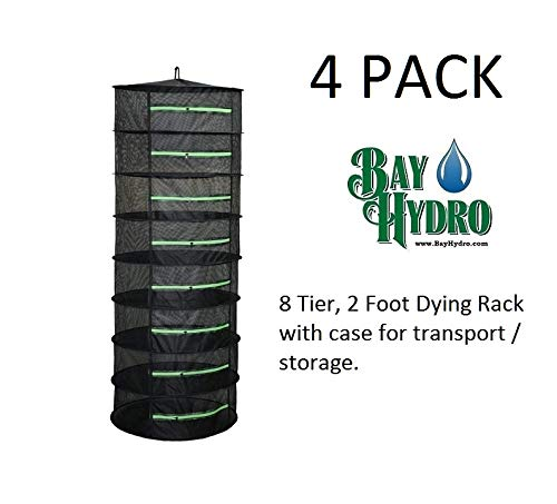 Check Out This 4 Pack of Bay Hydro Dry Rack Collapsible Drying System Eight 2' Shelves 8 Levels OF S...
