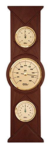 fischer Wetterstation, Schwarz, 285x 125mm, Holz, Walnut Coloured, Walnut Coloured