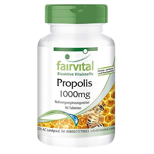 Propóleo 1000mg - Propolis - Dosis elevada - 3% de galangina - 90 Comprimidos - Calidad Alemana