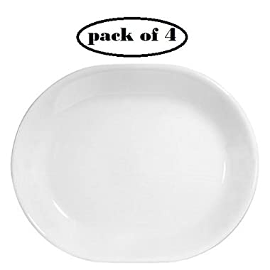 Corelle Livingware 12-1/4-inch Serving Platter, Winter Frost White ... (4)