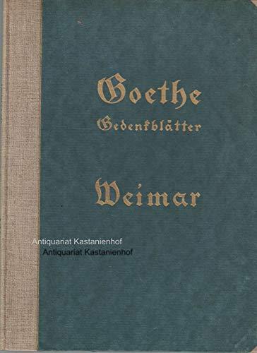 Goethe. Der Roman von seiner Erweckung. Zweiter Band. Sehr schöner OHLbd 18,5cm. - 381 S. (pages)