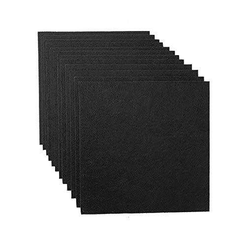 12 Pack Set Acoustic Absorption Panel, 12 X 12 X 0.4 Inches Black Acoustic Soundproofing Insulation Panel Tiles, Acoustic Treatment Used in Home & Offices