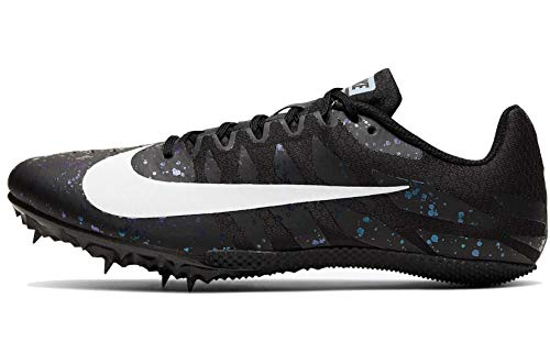 Nike Zoom Rival S9 Track & Field Spike Shoes (Black/White/Indigo Fog, 9.5)