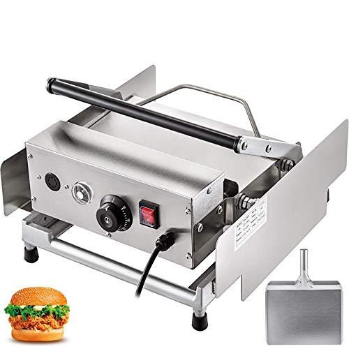 Machabeau 220V Burger Grill pour 6 Hamburgers de Cuire Presse à Hamburger Professionnel Inox Toaster Hamburger pour Faire Hamburgers et Gâteaux au Crabe