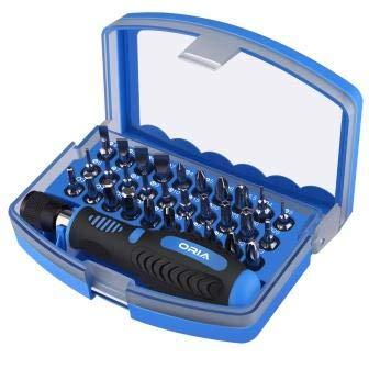Screwdriver ORIA 31 in 1 Precision Screwdriver Set Electronic Repair Tool Kit Magnetic Screwdriver Kit Driver Set Professional Hand Tools - (Color: Blue)