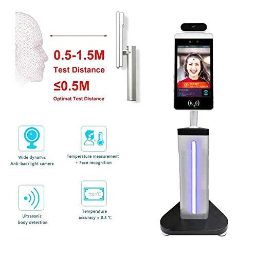 HealHeatersⓇ HD-Anzeige Infrarot-Thermometer Gesichtserkennung Temperaturmessung Maschine, Erkennung Der Körpertemperatur, Unterstützung Für Gesichtsvergleichsbibliothek