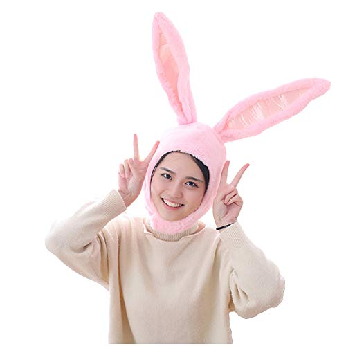 NACOCO Girl Rabbit Hat Eastern Bunny Hat Bunny Ears Cap Funny Party Holiday Hat Cute Costume for Men and Women (Pink)