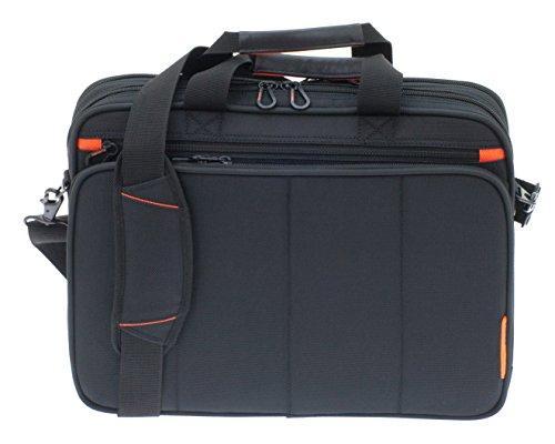 Davidts Business Aktentasche Flugumhänger Umhängetasche Laptop Netbook Tablet POLYSTER 41x31x12cm Schwarz 257 250 Bowatex