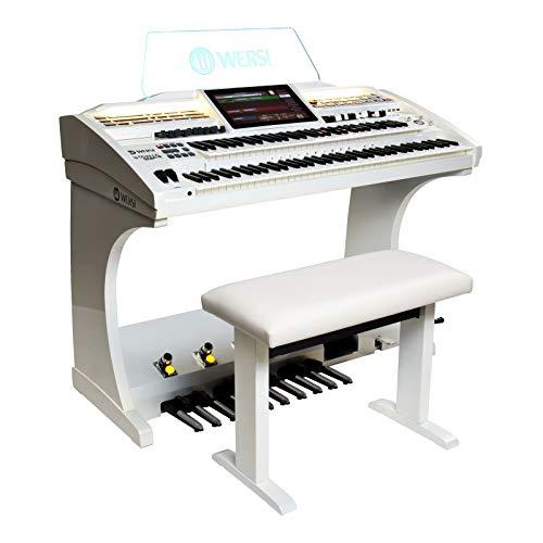Orgel SONIC OAX600 Perlmutt Weiss inkl. Sitzbank