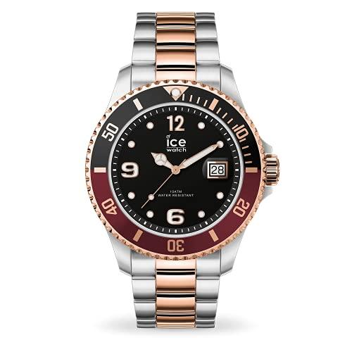 ICE-WATCH Ice Steel Chic Silver Rose-Gold - Reloj Plateado para Hombre con Correa de Metal, 016546 (Medium)