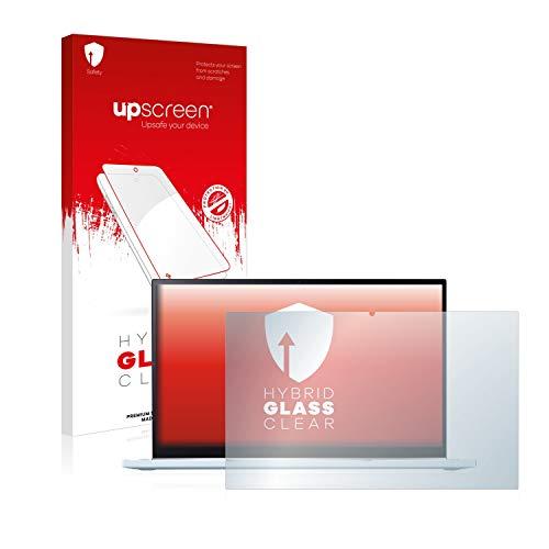 upscreen Hybrid Glass Panzerglas Schutzfolie kompatibel mit Asus Chromebook Flip C433 2-in-1 9H Panzerglas-Folie