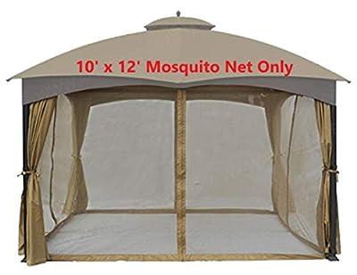 APEX GARDEN Universal 10' x 12' Gazebo Replacement Mosquito Netting (Mosquito Net Only) (Renewed)