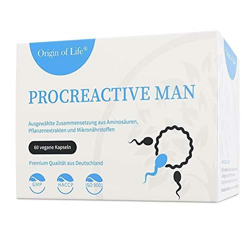 ProCreactive Man Fertilität Mann - Fruchtbarkeit 60 Kapseln Vegan hochdosiert laborgeprüft Made in Germany