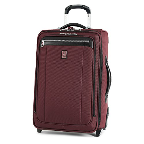 Travelpro Platinum Magna 2-Softside Expandable Upright Luggage, Marsala Red, Carry-On 22-Inch