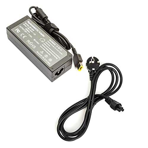 Cargador portátil 20 V 3.25 A USB Lenova 11 x 4.6 y 3 pines EU IEC C5 plomo
