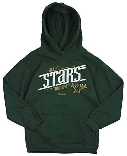 Reebok Dallas Stars NHL Big garçons Custom en Polaire à Capuche pour Homme, Vert, Grand 14–16 – Vert