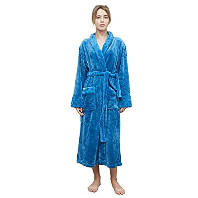 MERRYLIFE] Luxury Bath Robe for Women Plush, Warm Comfort | Super Absorbent and Breathable Terry Cloth | Large Coverage, Dual Pockets, Adjustable Waist Tie