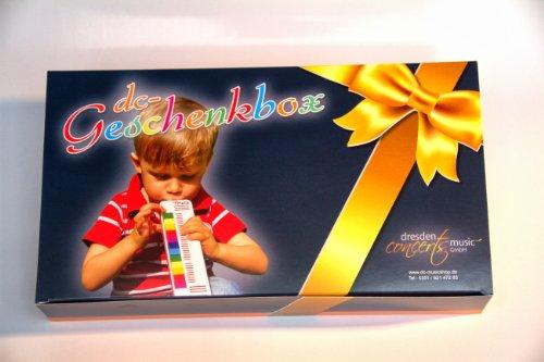TRIOLA 12: die beliebte Blasharmonika für Kinder in der DC-Geschenkbox --im Set mit Liederbuch Band 3 (deutsche Kinderlieder)
