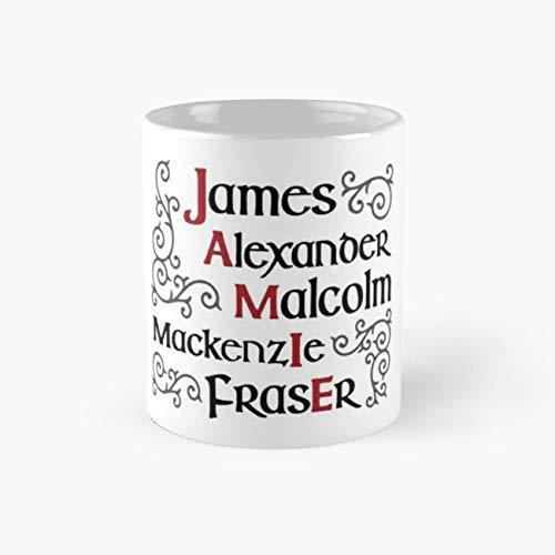 XCNGG Jamie Fraser Merch Outlander Merchandise Tazas de café de 11 onzas
