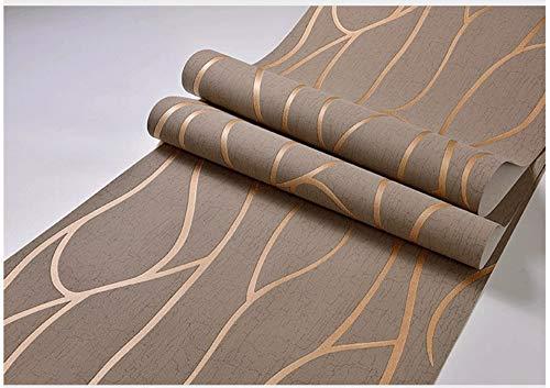 Vliestapete Einfache Gestreifte Braune Tapete Moderne Mode Kunst Für Wohnzimmer Badezimmer Küche Wohnkultur