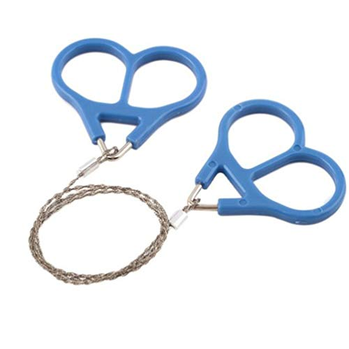 VORCOOL - Mini sierra de alambre de acero inoxidable, ideal para supervivencia de equipos, camping, caza, árbol, corte, kit de emergencia, cadena de herramientas