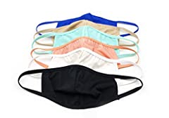 Pack of 10 85% Nylon, 15% Spandex The mask is not FDA-approved, not intended for medical use, and not proven to reduce the transmission of disease The CDC recommends use of cotton or cloth face coverings in public to reduce community spread by asympt...