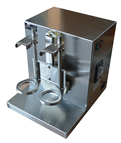 All-Stainless Steel Double-cup Auto Milk Tea Cocktail Shaker Shaking Machine 110V