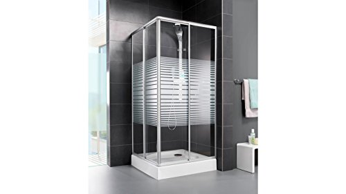 AQUAFORM Eckdusche Easy, variabel verstellbar 80 - 90 cm silberfarben