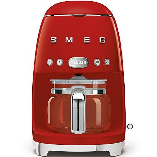 Smeg DCF01RDEU Freestanding Semi-auto Espresso Machine 1.4L 10cups Red Coffee Maker - Coffee Makers (Freestanding, Espresso Machine, 1.4 L, 1050 W, Red)