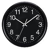 Plumeet 25cm Orologio da Muro Silenzioso con Numero Grandi E...