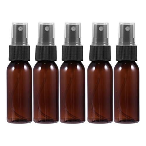 Minkissy 10Pc 30ml bouteilles de pulvérisation en plastique ambré, petites bouteilles de pulvérisation de brouillard, pulvérisateur de voyage vide (marron avec pulvérisateur noir)