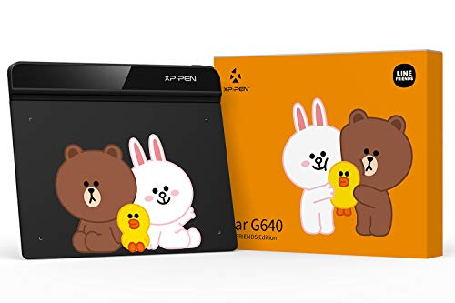 XP-PEN OSU Tablet StarG640 Digital Drawing Pad Line Friends Edition Digital Tablet for Online Teaching Remote Work E-Learning OSU Game and Digital Signature