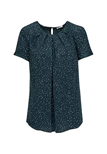 Seidensticker Fashion Bluse kurzer Arm, Azul (19), 50 para Mujer