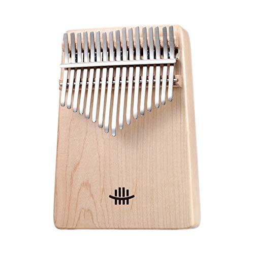 Kalimba, Daumenklavier 17 Keys Kalimba Daumenklavier Traditionelle gezupften Saite Musikinstrumente mit Tuning Hammer Tonleiter Aufkleber-Stoff-Tasche (Color : Maple)