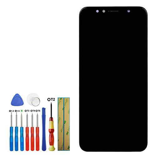 swark - Pantalla LCD compatible con Huawei Honor 7A Enjoy 8E Y6 2018 5,7 pulgadas pantalla táctil (Schwaz + marco) con herramientas