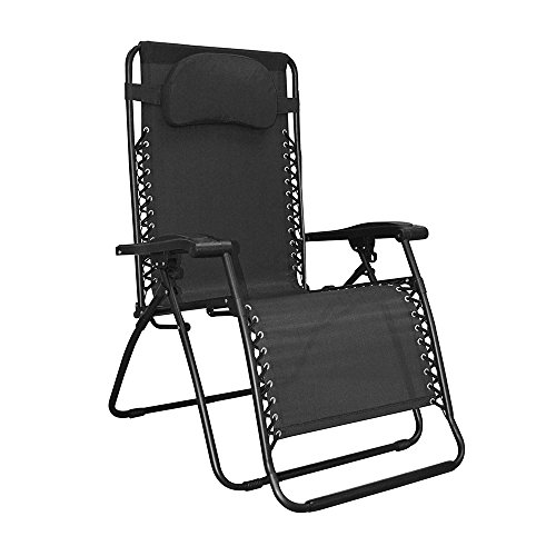 Caravan Sports Infinity Oversized Zero Gravity Chair, Black