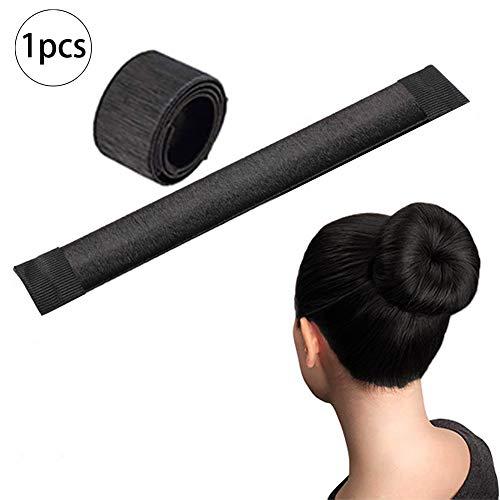 Xiton 1PC Dutt Maker Donut Maker FranzöSisch Twist Hair Bun Maker Haar Falten Wickeln Haarband ZubehöR Diy Haar Set Frisurenhilfe FüR Frauen MäDchen (Schwarz)