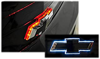Illuminated DUAL COLOR Rear Trunklid Bowtie LED Light Compatible with Chevy Camaro 2010-2013