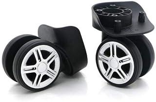 FidgetGear Suitcase Luggage Accessories Universal Swivel Wheels Trolley Wheel Casters W053 A Pair Left&Right Wheel (2pcs) One Size