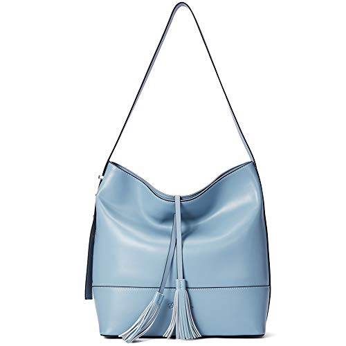 BOSTANTEN Donna Borsa a mano Vera Pelle Borsa a tracolla Elegante Borsa a spalla Borsa Tote Borse hobo bag Blu