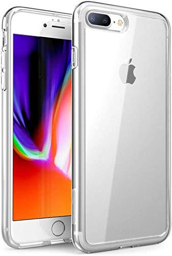 Captor Cover Trasparente per iPhone 7 Plus/iPhone 8 Plus, Custodia TPU in Silicone Flessibile Morbida e Sottile, Protezione Full Body con Bordo Rialzato per Schermo e Fotocamera